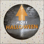 Halloween-This-Way Floor-Graphic Directional