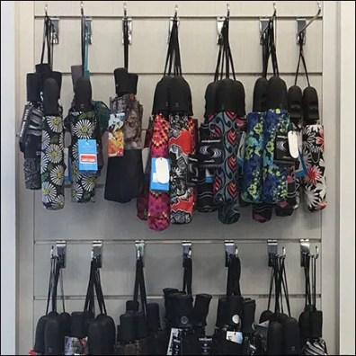 Nordstrom Rack Slatwall J-Hook Umbrella Merchandising