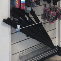 Nordstrom Rack Slatwall Sidesaddle Umbrella Rack