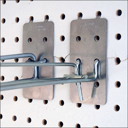 Pegboard Scan-Hook Reinforcement BackPlate Feature