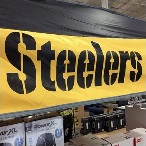 Steelers Football Tent In-Store Display