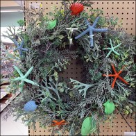 Seascape Wreath Endcap Merchandising
