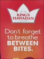 King's Hawaiian Breathe-Between-Bites Display