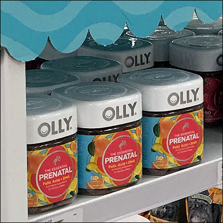 Olly Vitamin Metal Tower Canopy Display