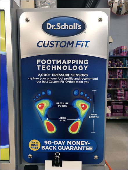 Dr. Scholl's Custom Fit Footmapping Readout
