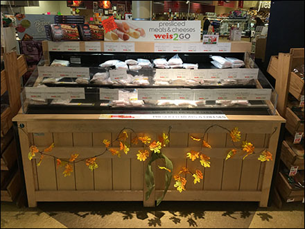 Autumn Leaf Meat-and-Cheese Display