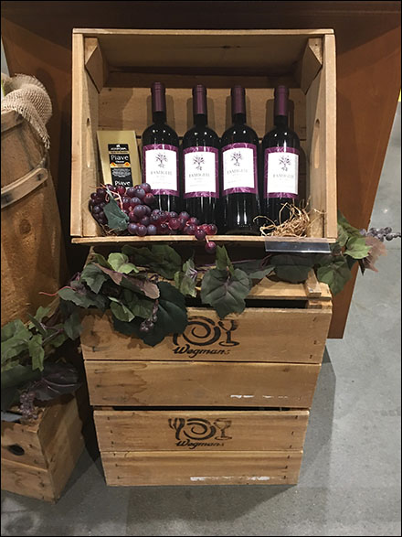 Wood-Crate-Staged Red Wine DisplayWood-Crate-Staged Red Wine Display