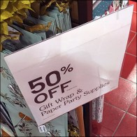 Gift-Wrap Party-Paper Sign Stand