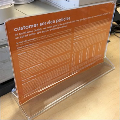 97¢ Customer Return Policy Twist