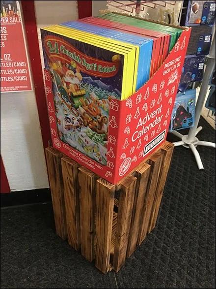 Christmas Calendar Crate Merchandising