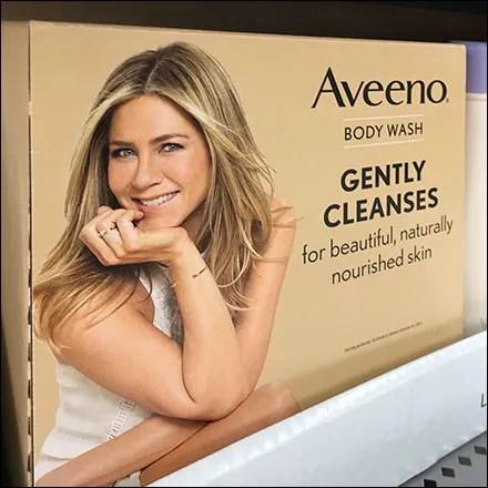 Aveeno Body Wash Endcap Dimensional