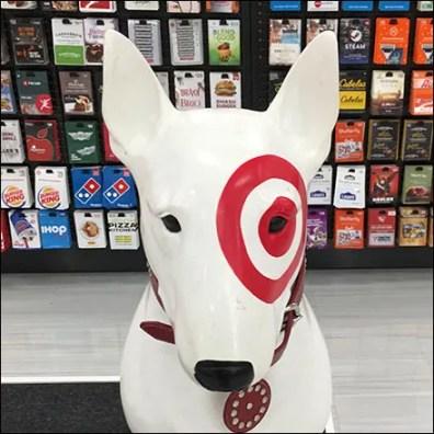 Bullseye Gift-Card Guard-Dog Display