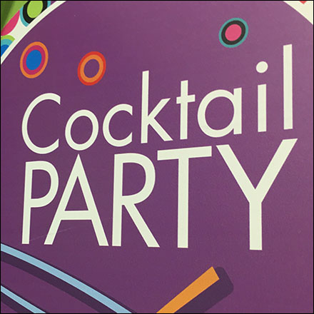 Cocktail Merchandising in Retail - Cocktail Party Shelf-Edge Promo-Flag