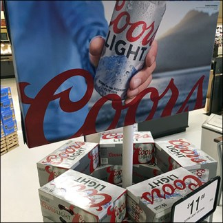 Coors Light Merchandising In-The-Round