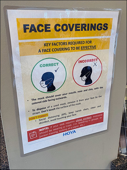 CoronaVirus Proper Face Covering Instructions
