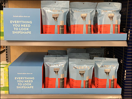 Harry's Shave-Kit-In-A-Bag MerchandisingHarry's Shave-Kit-In-A-Bag Merchandising