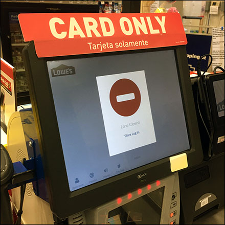 Credit-Card Self-Checkout Login Required