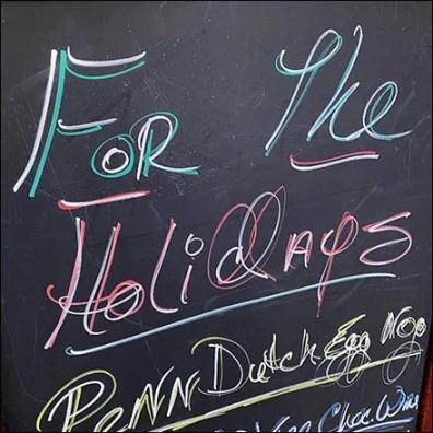 Holiday Spirits Chalkboard Promotion Sign