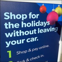 Holiday Shopping Sidewalk Sign Outreach