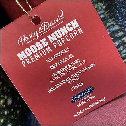 Harry-&-David Moose-Munch Popcorn Hang-TagHarry-&-David Moose-Munch Popcorn Hang-Tag