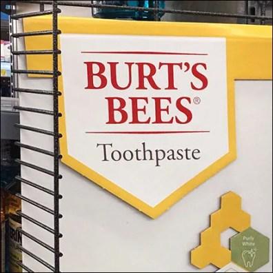 Burt's Bees Toothpaste PowerWing Display
