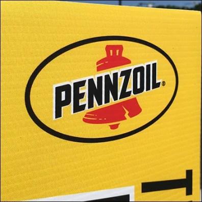 Pennzoil Bollard Promotional Sleeve