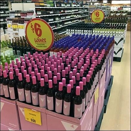 $6 Wine Mass Merchandising Display
