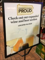 Beer-and-Wine Selection Department Sign