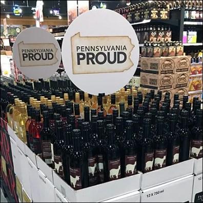 Local Wine Mass Merchandising Display