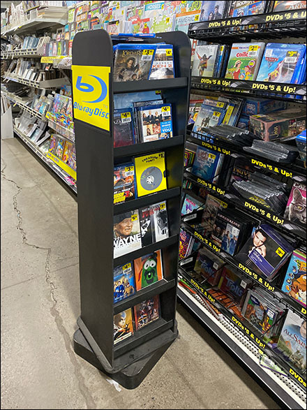 Blu-Ray Disc Movie Tower Merchandiser