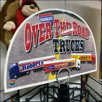 Over-The-Road-Trucks Spinner Tower Display
