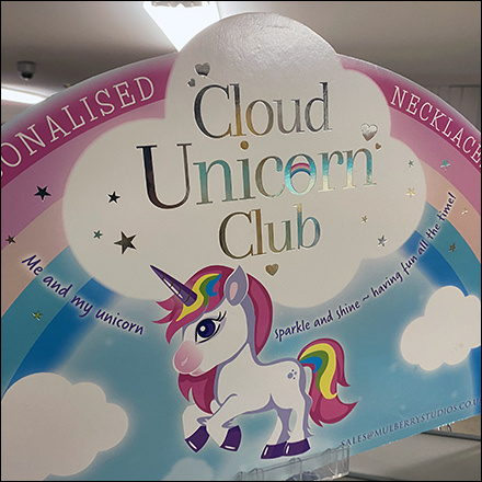 Unicorn-Club Necklace Spinner Display