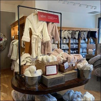 Teddy Bear Bath Robe Display