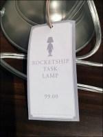 Kids Rocketship Task Lamp Prop