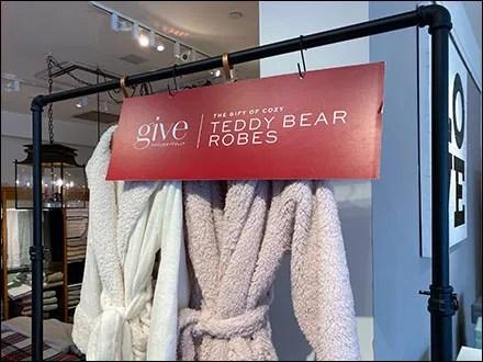 Teddy Bear Bath Robe Sign S-Hooks