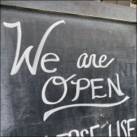 We-Are-Open Chalkboard Directional