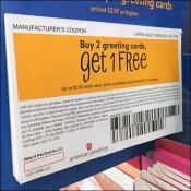 Greeting-Card Padded-Coupon BOGO Offer