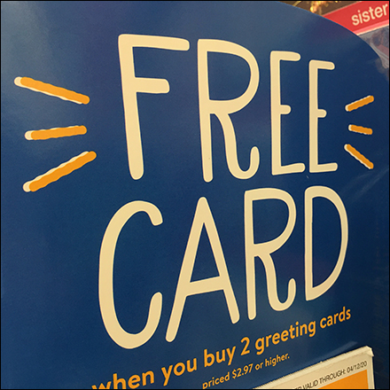 Greeting-Card Padded-Coupon BOGO Offer