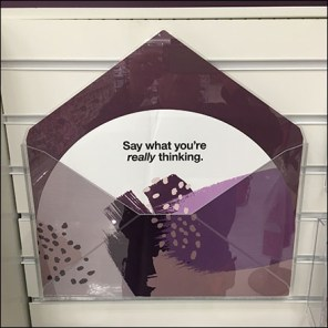 Clear Acrylic Slatwall Greeting Card Bins