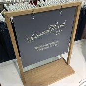 Universal-Thread Branded Table-Top Sign Stand