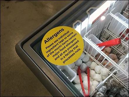Allergens Self-Serve Ice-Cream Warning