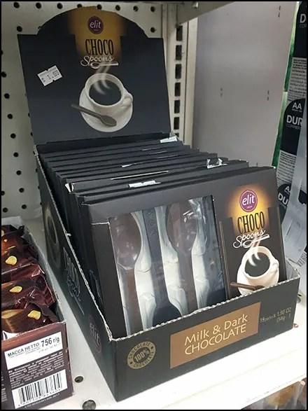 Elite Chocolate Spoon Shelf-Top Display