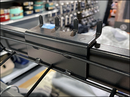 Open-Wire Tray Bar-Mount Backplate