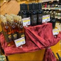 Fine-Wine Table-Drape Visual Merchandising