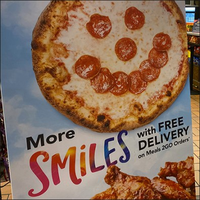 More-Smiles Free Delivery Signboard