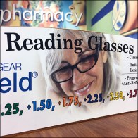 Sunglass-Reader Dual Display Spinner