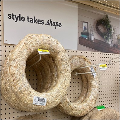 Style-Takes-Shape Wreath Blanks Display