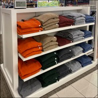 Chaps 3-Button Henley Shelf Display