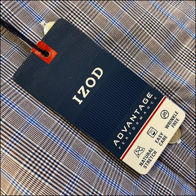 Izod Everyday Shirt Hang-Tag Branding
