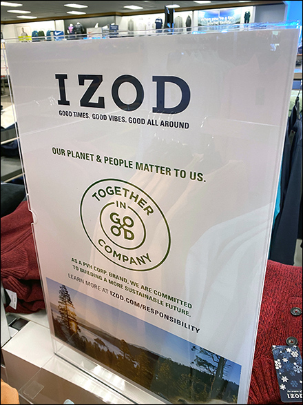 Izod Planet and People Matter Pledge